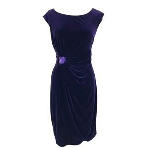 Connected Purple Sheath Dress Velvet Sz12 & 16 NWT